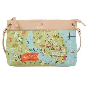 Greetings from Charleston Map Crossbody